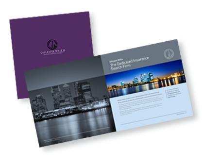 Gillespie Wallis Brochure, graphic design and marketing