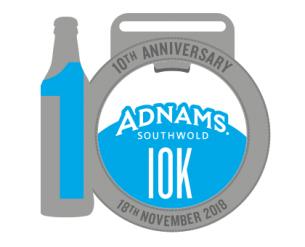 Adnams 10k medal