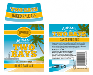 Adnams Two Bays Beer Labels