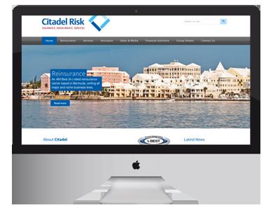 Citadel Risk Website, graphic design and marketing