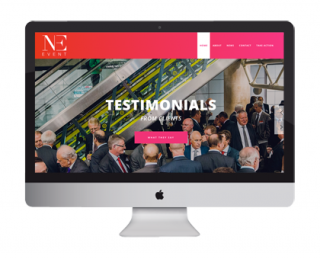 Ne Event Website, graphic design and marketing